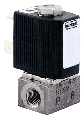 Burkert 293147 18 Type 6011 Stainless Steel 316L Solenoid Valve 24VDC NSF Drinking Water General Purpose Direct Acting Plunger Style 87 psi