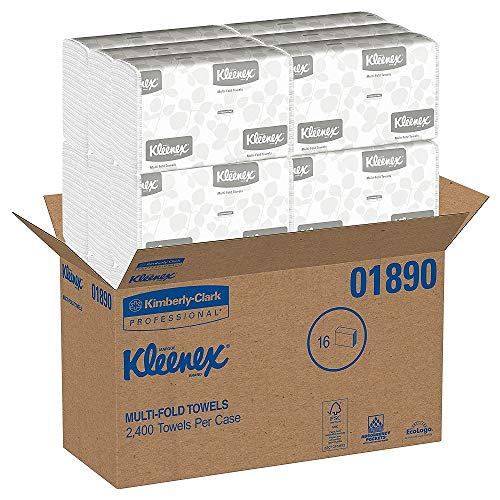Kleenex Multifold Paper Towels 01890 White 150 Tri Fold Paper TowelsPack 2 Cases 16 Pack Bundle