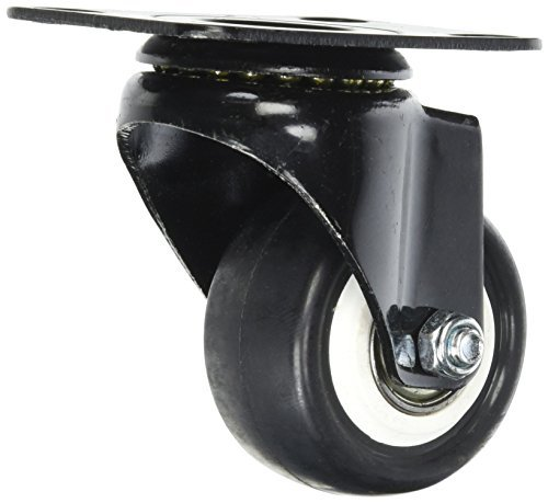 DealMux 19-Inch Rack Trolley Single Wheel Caster with Top Plate