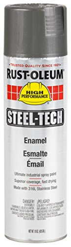 Rust-Oleum 268863 Steel-Tech Spray Paint 20-Ounce Stainless Steel 6-Pack