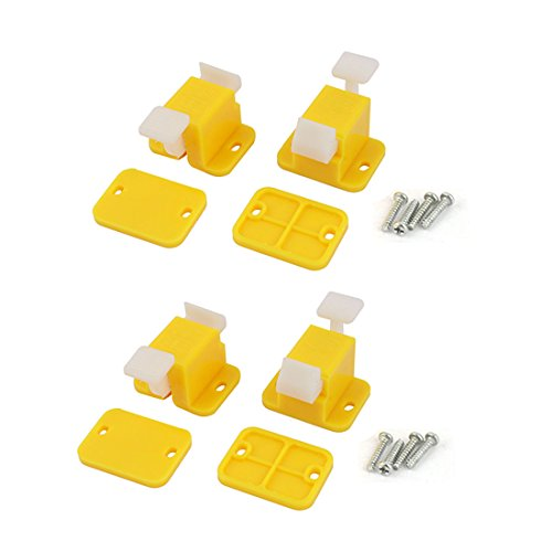 Uxcell 4 Pcs Plastic Prototype Test Fixture Jig Yellow White for Pcb Board