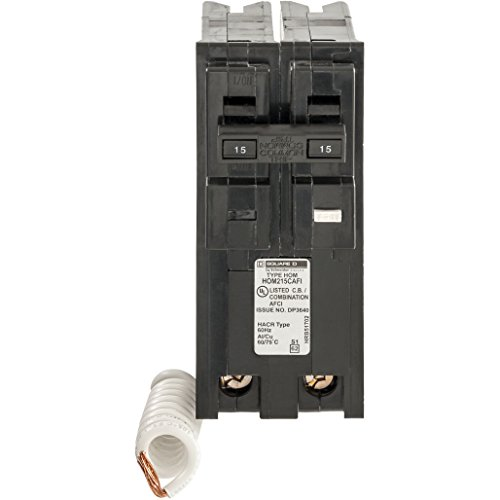Square D by Schneider Electric HOM215CAFIC Homeline 15 Amp Two-Pole CAFCI Circuit Breaker