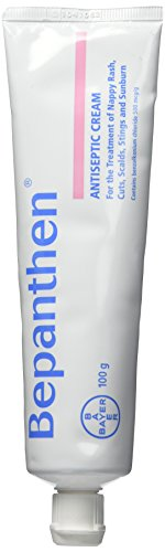 Bayer Bepanthen Antiseptic Cream 100g for The Treatment of Nappy Rash Cuts Scalds Stings and Sunburn New Formulation New Formulation 100g