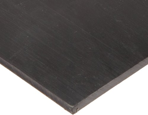 Polyurethane Sheet No Backing 95A Smooth ASTM D-470 Black 14 Thick 6 Width 6 Length