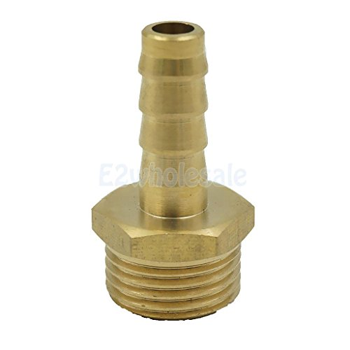10mm 12 Brass Male Barbed Hose Joiner Fitting Tubing Pipe Adapter Coupler