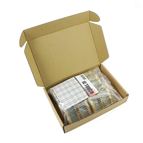 Ictouch 100value 1000pcs 12W Carbon Film Resistor Assortment Kit KIT0126