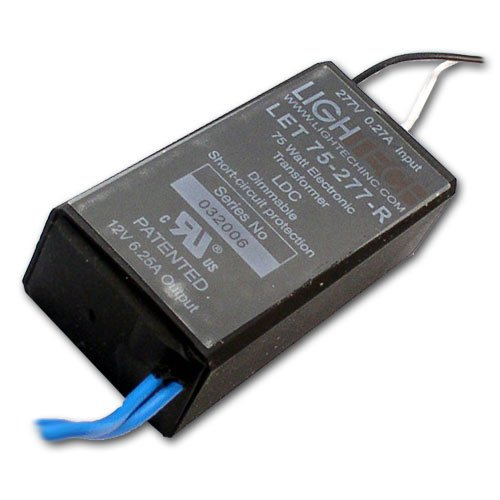 LighTech LET-75 Electrical Transformer 12V 75W Electronic Dimmable