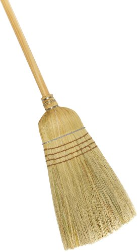 Weiler 44008 Corn Fiber Heavy-Duty Wire Banded Warehouse Broom with Wood Handle 1-12 Head Width 57 Overall Length