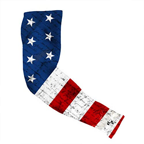 S A 1 American Flag Arm Sleeve - Arm Shields Compression Arm Sleeves for Men and Compression Arm Sleeves for Women