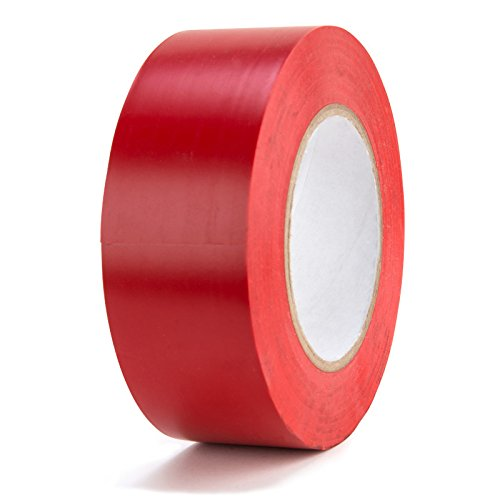 Chus Packaging Supplies HHVT336R Aisle Marking Vinyl Tape 3 x 36 yd Red Pack of 16
