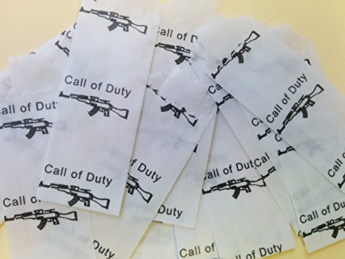 CALL OF DUTY Vellum Wax Paper Envelope Bags Small 20mm22mm 600pcsbx
