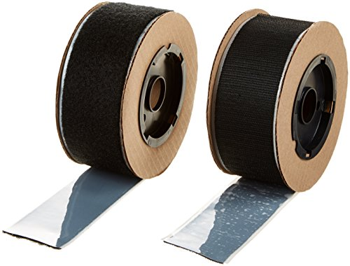 VELCRO 3806-SAT-PSAB Black Super Adhesive Nylon Hook and Loop Combo Pack 0132 Adhesive Backed 2 Wide 15 Length