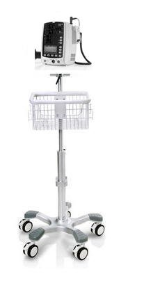 Rolling Stand for Mindray Vs-800 Dpm3 Vital Sign Monitor with Concave Base concave base