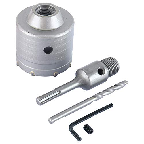 SDS Plus Shank Carbide Tip Hole Saw Drill Bit  Shaft Cutter Wall Drill Brick Stone Concrete Cement with Wrench 70MM