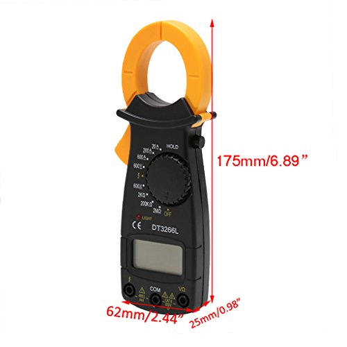 DT3266L Digital Clamp Meter Multimeter Voltage Current Resistance Tester