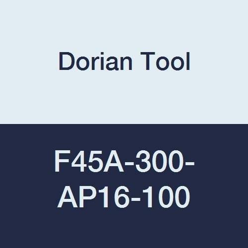 Dorian Tool F45A Indexable High Positive Face Mill Insert Holder 6 Flute 45 Degree 3 Cutting Diameter 1-34 Overall Length 1 Arbor Diameter
