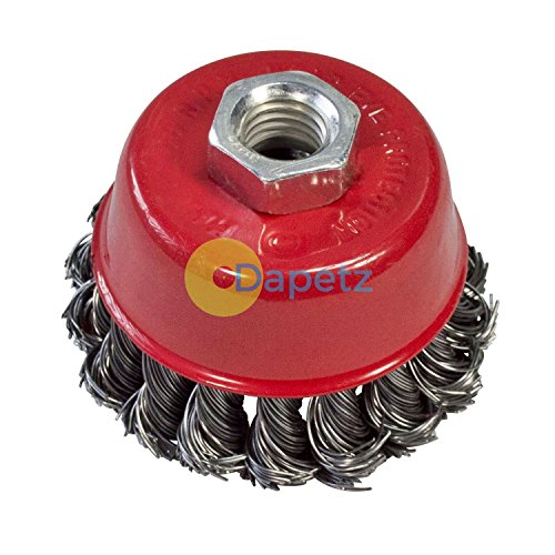 Dapetz Twist Knot Wire Wheel Cup Brush 150mm M14 for 4 12 115mm Angle Grinder