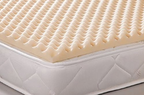 Geneva Healthcare Egg Crate Convoluted Foam Mattress Pad 4 Standard Queen Size Topper - 4 x 60 x 80 - 12 Density