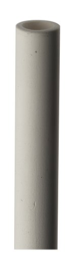Porous Ceramic Round Tube Pure White 1 Bars Air Entry 25 Micron Pore Size 1 OD 34 ID 0125 Wall Thickness 12 Length