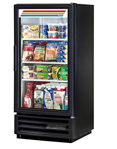True GDM-10-HC-LD Single Swing GLASS Door Merchandiser REFRIGERATOR with Hydrocarbon Refrigerant and LED Lighting Holds 33 degree F to 38 degree F 535 Height 23125 width 24875 Length
