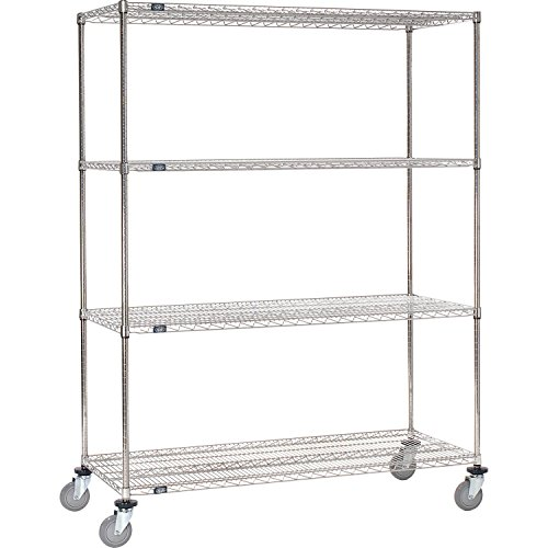 Stainless Steel Wire Shelf Truck 36x18x80 1200 Lb Capacity