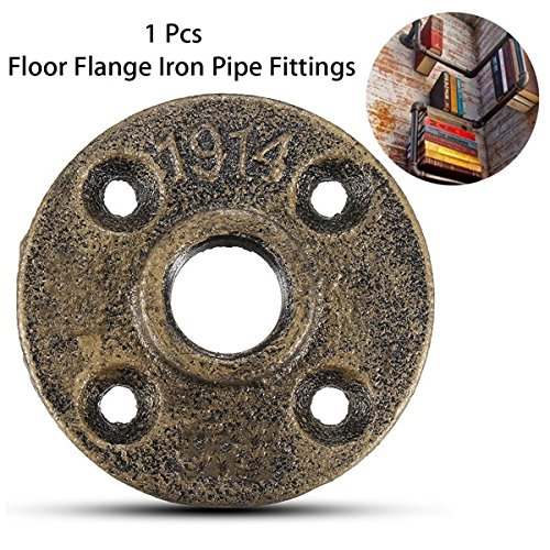 CoCocina 20mm Malleable Threaded Floor Flange Iron Pipe Fittings Wall Mounted Flange