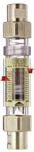 Hedland H624-604 EZ-View Flowmeter With Sensor Polysulfone For Use With Water 05 - 4 gpm Flow Range 12 NPT Female