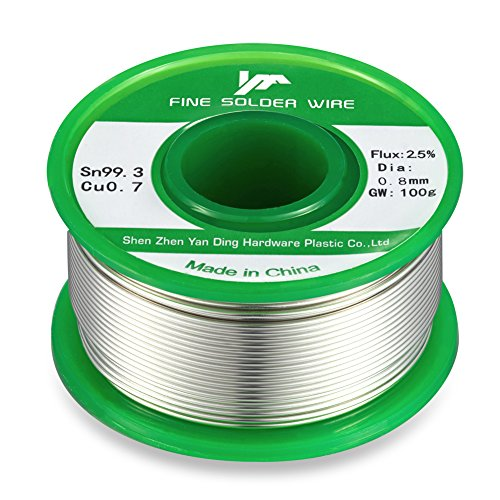 Lead Free Solder Wick with Rosin Core for Electrical Desoldering Wire Roll Sn993 Cu07 Flux 25 Solder wire 08