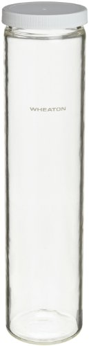 Wheaton 805027 Hybridization Bottle Safety Coated 35mm x 300mm With 45mm Polybutylene Terephthalate PBT Screw Cap With PTFESilicone Liner