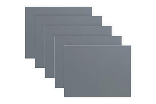 5 Sheet Variety Pack 5 9 15 30 and 60 Micron Pressure Sensitive Adhesive PSA 85 Inch x 11 Inch Silicon Carbide SC Lapping Microfinishing Polishing Film 3 Mil Backing 3M TM