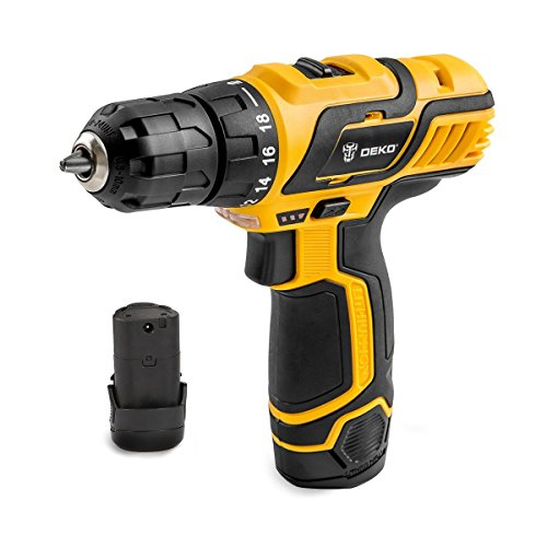 DEKOPRO SATURN Cordless Drill Driver 12V 38 Inch Lithium-Ion Mobile Power Tools Mini Electric Drill BMC