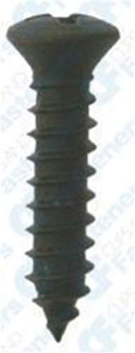 Clipsandfasteners Inc 1008 X 1-12 Phillips Oval Head Tapping Screws Black
