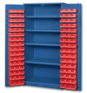 Pucel Enterprises Big Blue Bin Cabinets With Door Mounted Bins Bigblue-Fdb2