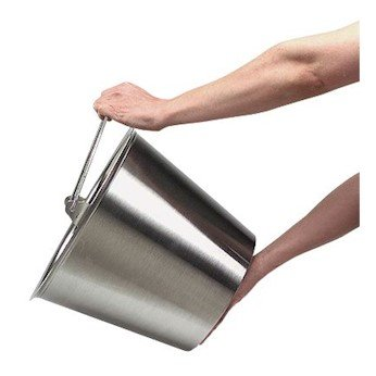 Cole-Parmer Stainless Steel Pail type 304 heavy gauge 12-12 qt