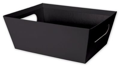 Solid Color Specialty Event Boxes - Black Market Trays 9 x 7 x 3 12 6 Trays - BOWS-MKTLG-12