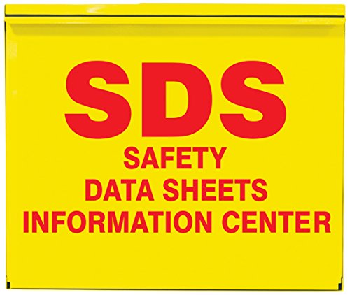 Accuform Signs ZRS389 SDS SAFETY DATA SHEETS INFORMATION CENTER Storage Cabinet Kit 22-12 Length x 26-12 Width x 5 Depth Steel Cabinet 2 2-12 SAFETY DATA SHEETS 3-Ring Binders Included Red on Yellow