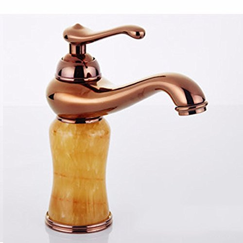 AWXJX European style copper single hole hot and cold Double Sink mixer