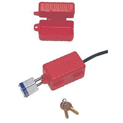 North Safety E-Safe Electrical Plug Lockout for 220550 Volt Plugs Red Pack of 1