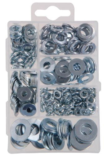 The Hillman Group 591521 Small Flat and Lock Washer Assortment 270-Pack